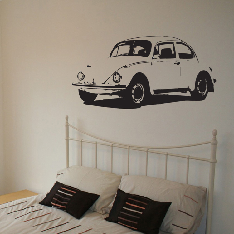 Vintage Auto Wall Decor : Vintage car vinyl wall decal