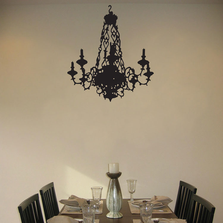 Ornate chandelier with candles wall decal sticker graphic aloadofball Gallery