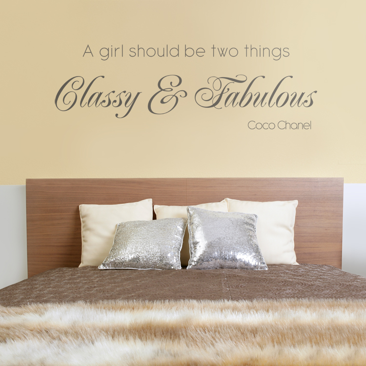 Classy u0026 Fabulous - Quote - Wall Decals