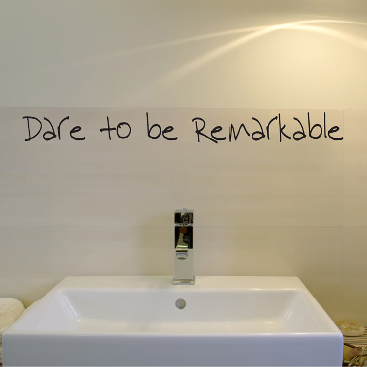 Dare to be Remarkable - Wall Decals - Wall Words