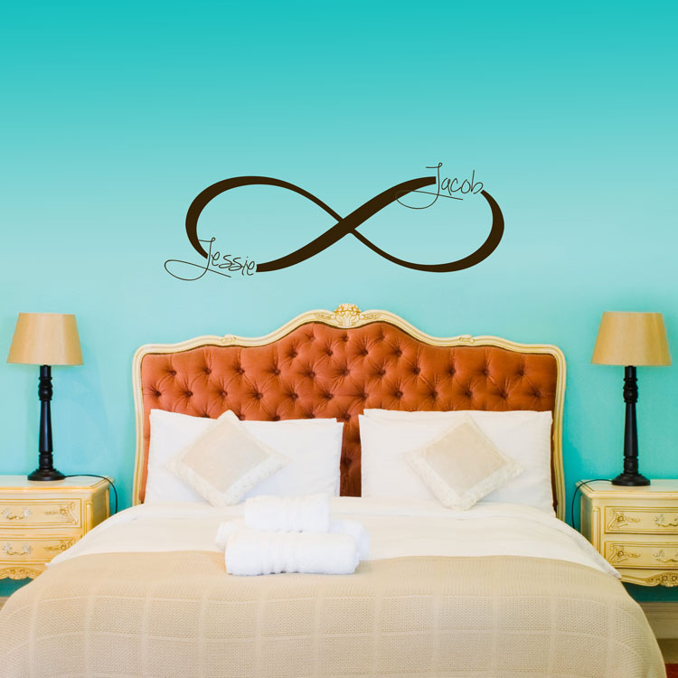 Infinity symbol monogram personalized custom wall decals