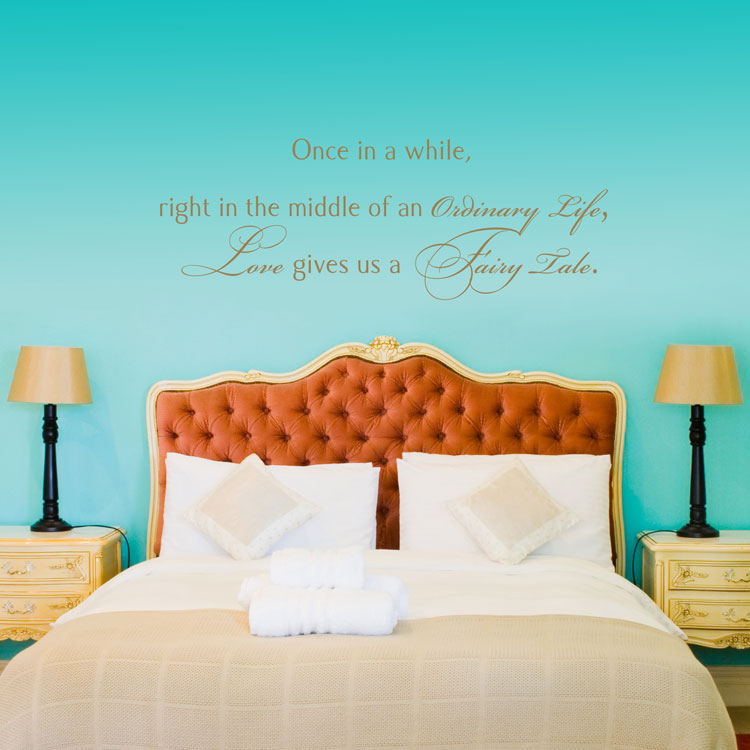 Once In A While   Love Gives Us A Fairy Tale   Quote   Wall Decals