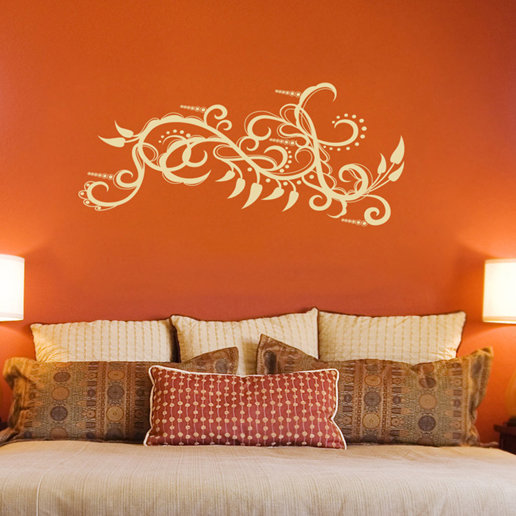 & Paisley Peppers and Intricate Swirls Wall Decal Sticker Graphic