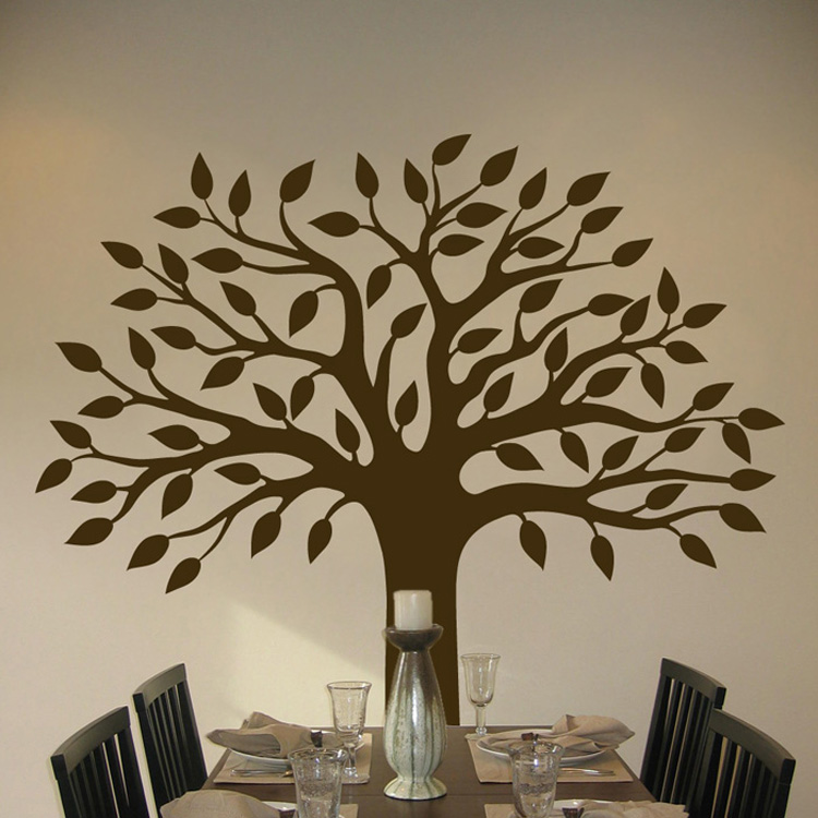 Perfect pretty tree wall decal sticker graphic for Black tree wall mural