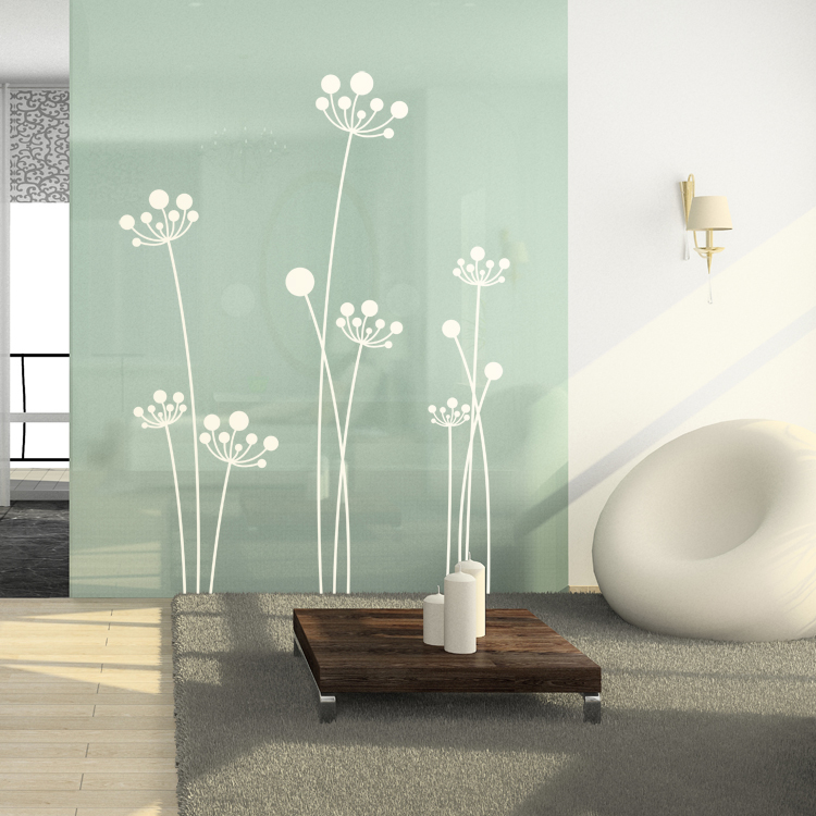 & Simple Mod Dandelions - Set of 7 - Wall Decals Stickers Graphics