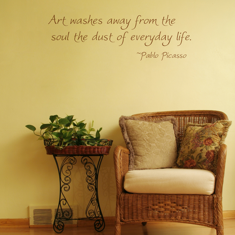 Art Washes Away - Quote - Wall Decals Stickers Graphics