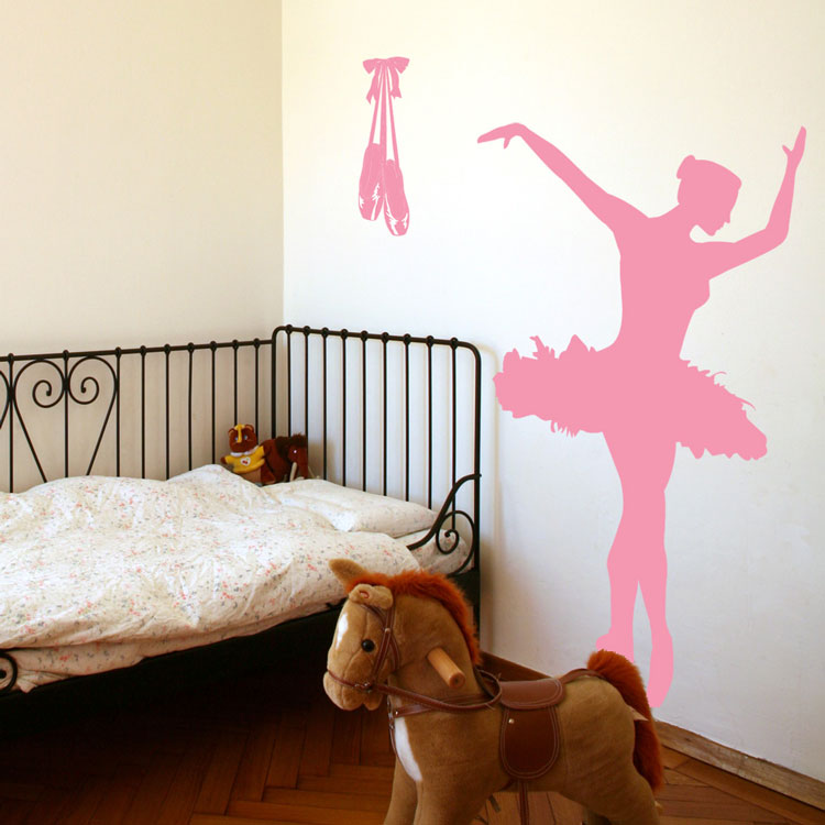Ballerina Dancer Ballet - Toe Shoes - Vinyl Wall Decals b69fe81d73c4