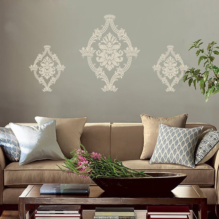 Set Of Three Fancy Flourish Victorian Scrolls Ornate Vinyl Wall Decals