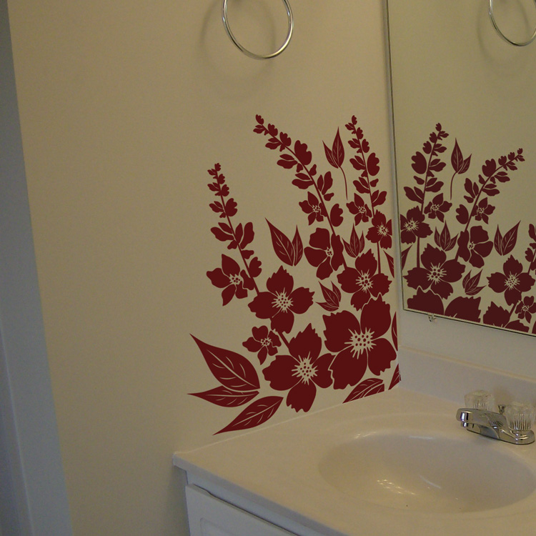 hibiscus flowers wall decal sticker graphic