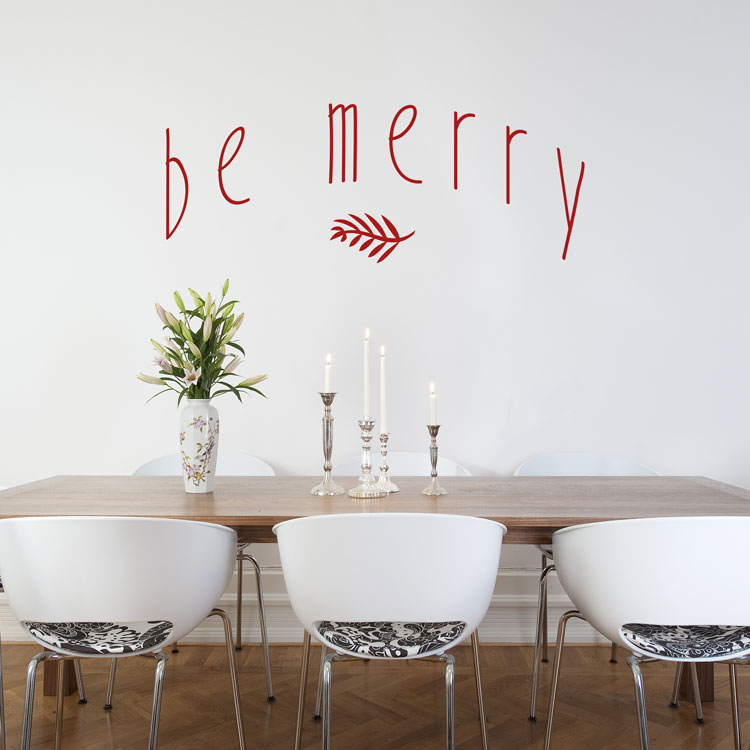 Be Merry - Holidays - Christmas - Winter - Wall Decals  sc 1 st  Dali Decals & Holiday Christmas Halloween Fall Winter Wall Decals Stickers ...