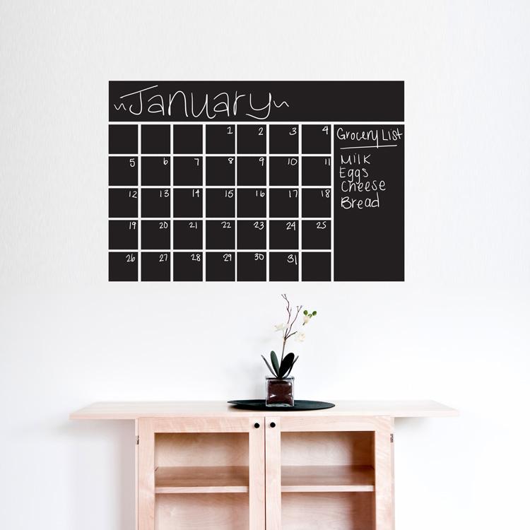 Chalkboard Calendar Decal : Chalkboard calendar wall decals