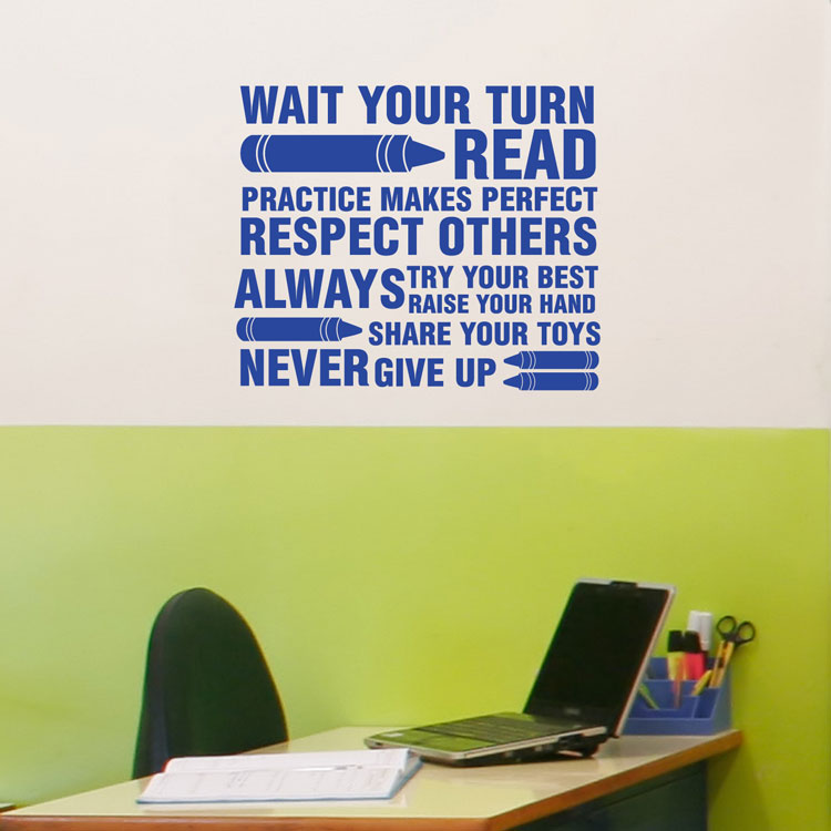 classroom rules - wall decals stickers graphics