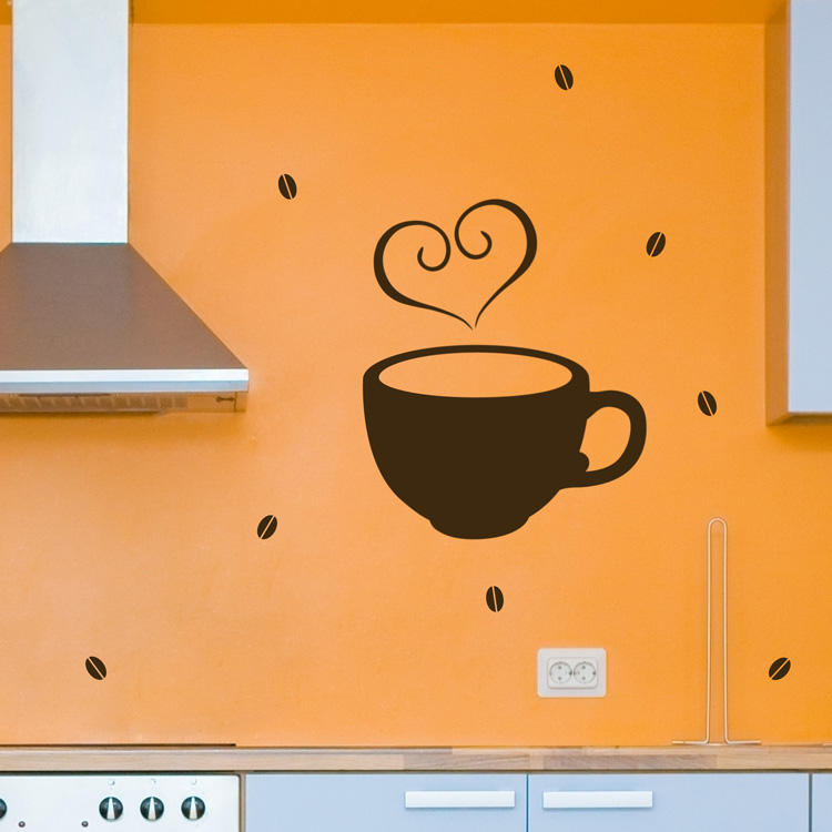 Coffee Love Wall Decals Stickers Graphics