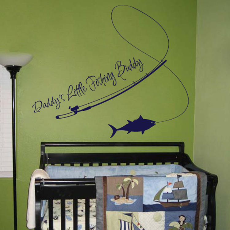 Daddy S Little Fishing Buddy Quotes Wall Decals