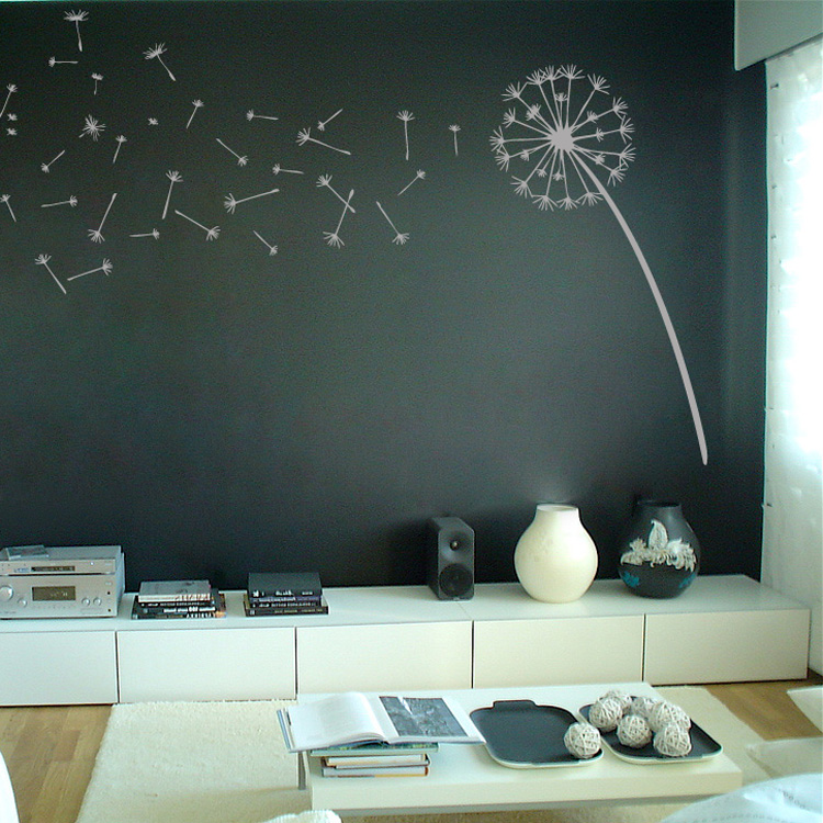 dandelion blowing in the wind wall decal sticker graphic office wall stickers india o wall decal