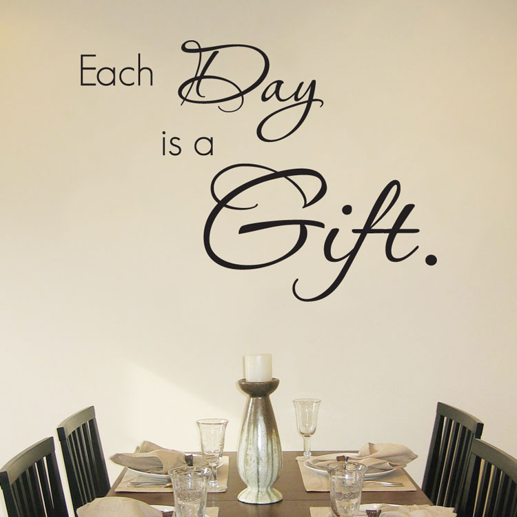 Each day is a gift quote wall decals words