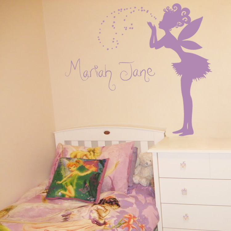 Good Magical Fairy Making A Wish   Personalized Monograms U0026 Names   Wall Decals Part 19