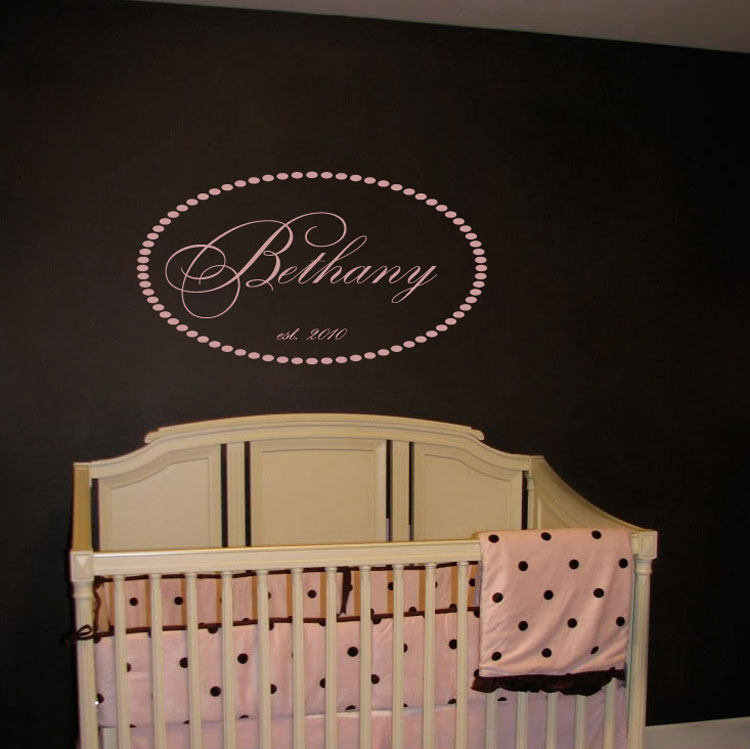 Fancy and Elegant Monogram Personalized Wall Decals