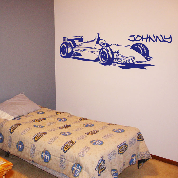 Formula Personalized Race Car Wall Decal Sticker Graphic - Formula 1 wall decals