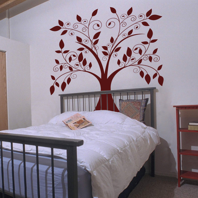 & Giant Tree Falling Leaves Wall Decals Vinyl Stickers