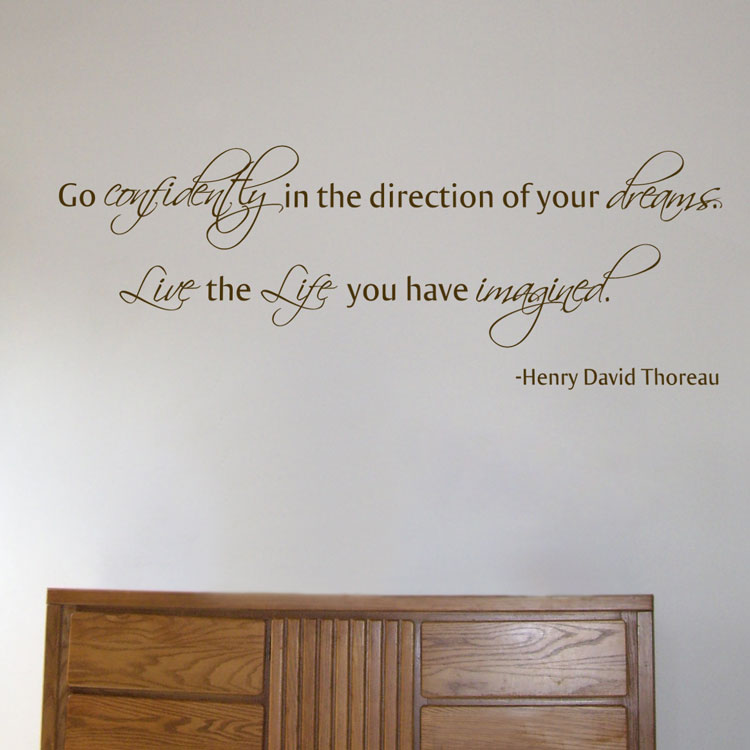 Go Confidently In The Direction Of Your Dreams Quote Wall Decals Stickers Graphics