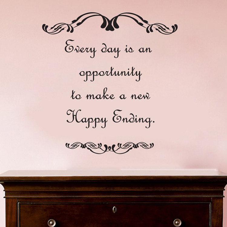 Every Day Is An Opportunity To Make A New Happy Ending Wall Decal