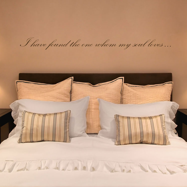 I Have Found The One Whom My Soul Loves Quote Love Wall Decals