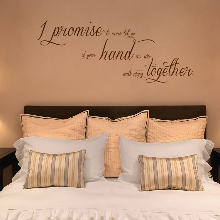 & I Promise to Never Let Go - Quote - Wall Decals Stickers Graphics