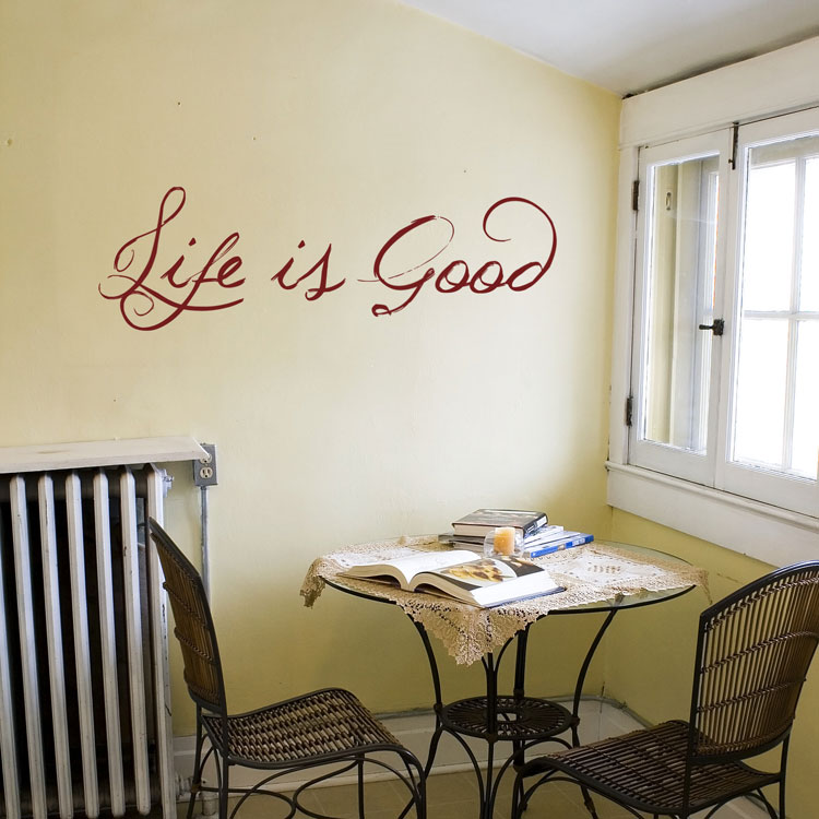 & Life is Good - Quote - Wall Decals Stickers Graphics