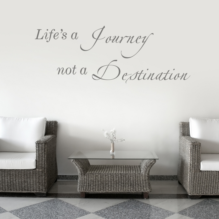 & Lifeu0027s a Journey - Quote - Wall Decals Stickers Graphics