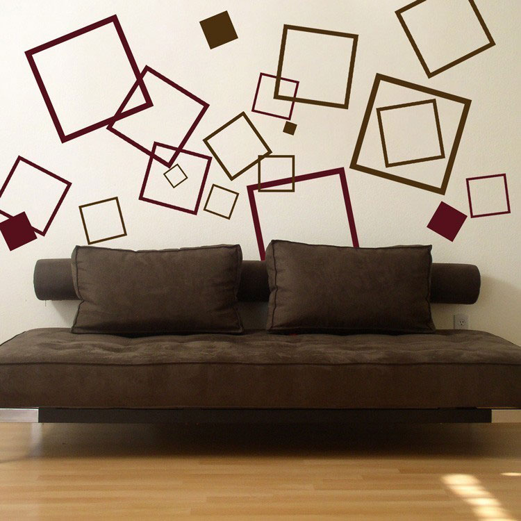 Bon Lots Of Squares   Set Of 60   Wall Decals