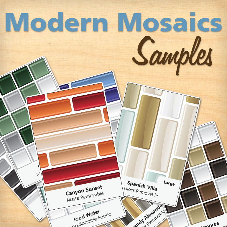 Home » Decal Samples » Modern Mosaics - Mosaic Wall Decal Samples