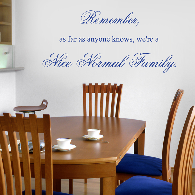 Nice Normal Family Quote Wall Decals Stickers Graphics