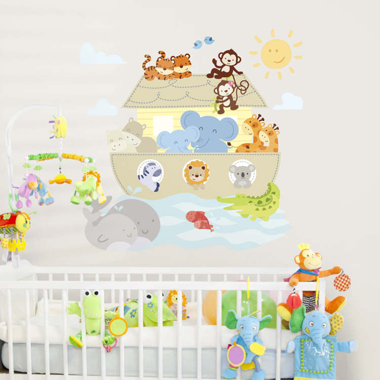Noahs Ark Animals Printed Wall Decals Stickers Graphics - Wall decals noah's ark