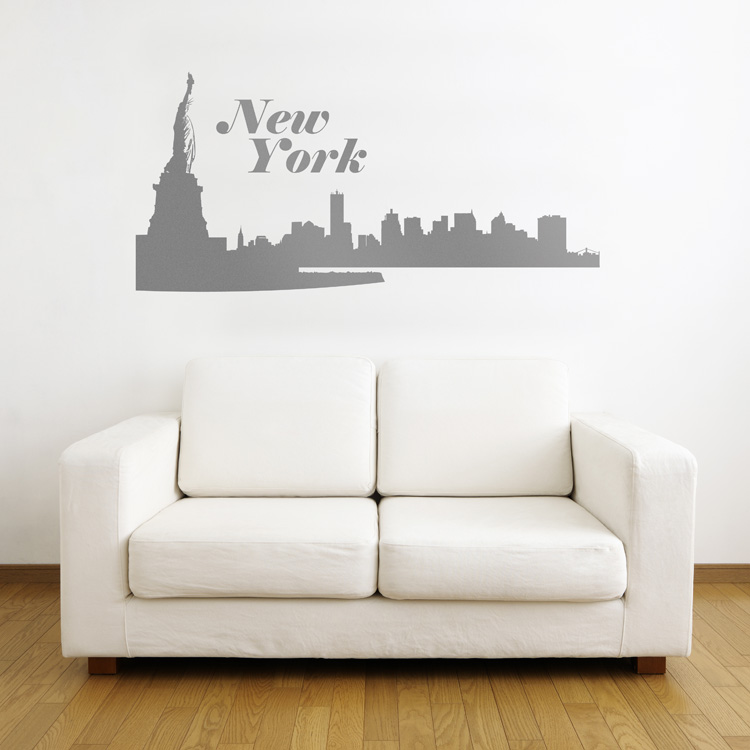 New York City Skyline Wall Decals Stickers Graphics