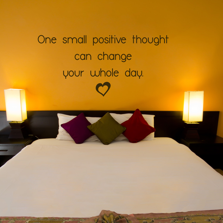 One Small Positive Thought can change your Whole Day - Quote - Wall ...