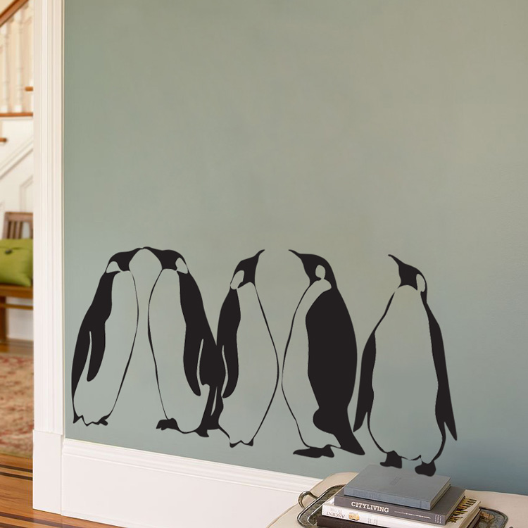 Penguins - Set of 5 Wall Decal Sticker Graphic
