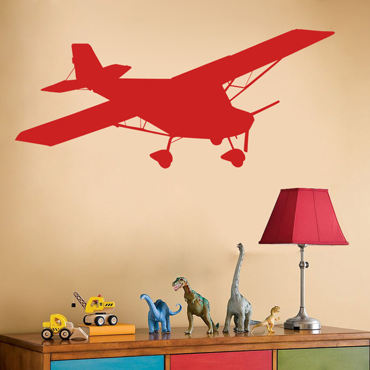 Airplane decal wall decals sticker graphic for Airplane wall mural