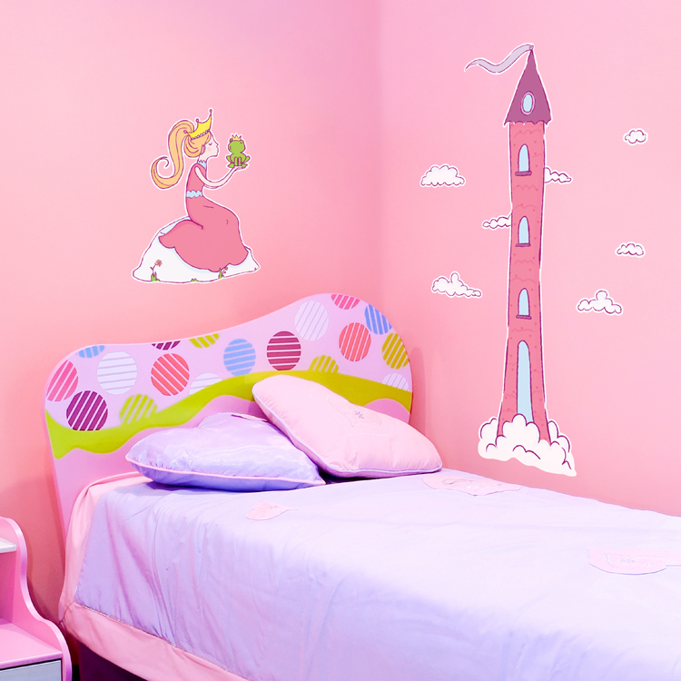 princess frog prince castle printed wall decals stickers graphics