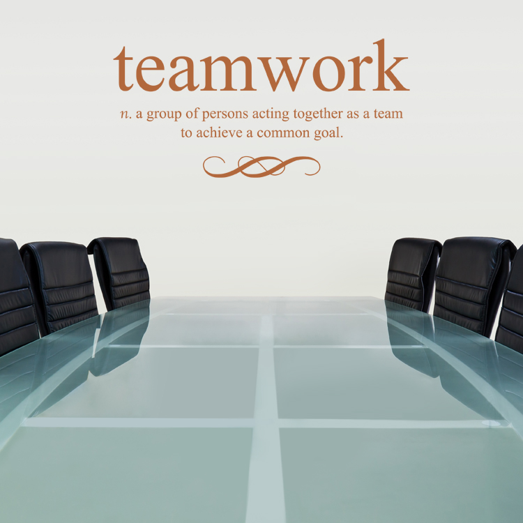 Teamwork Defined - Quote - Wall Decals Stickers Graphics