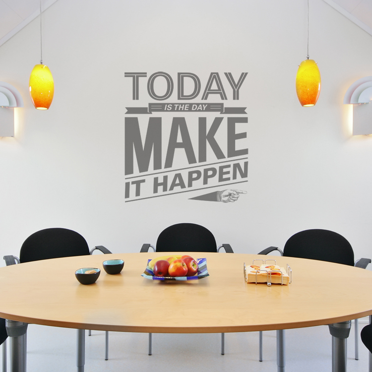 Today Is The Day Motivational Quote Wall Decals Stickers Graphics - Wall decals motivational quotes