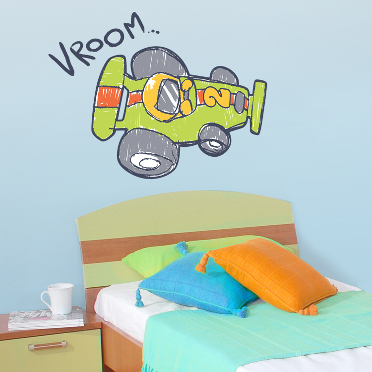Vroom Race Car Printed Wall Decals Stickers Graphics - Wall decals cars