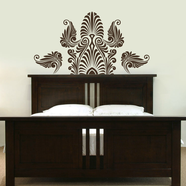 ornate indian inspired headboard wall decal sticker graphic