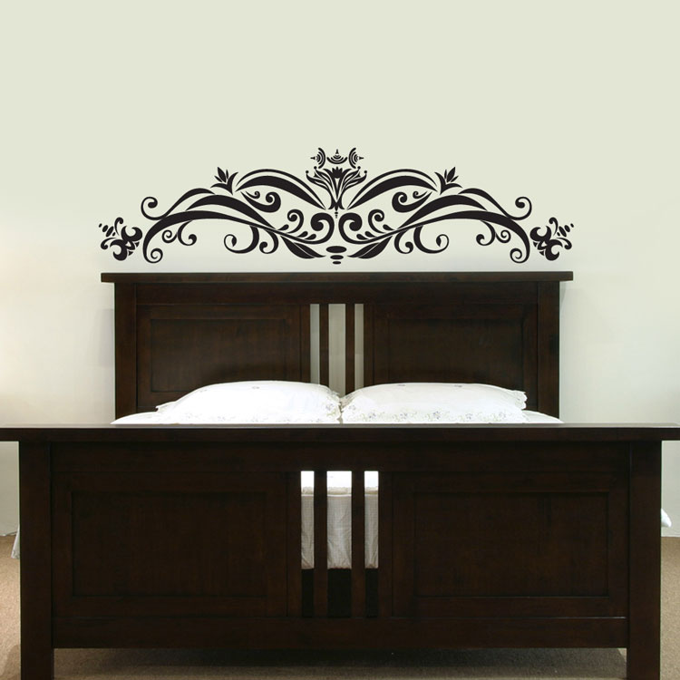ornate headboard wall decal sticker graphic bed headboard decal headboard self adhesive primedecals