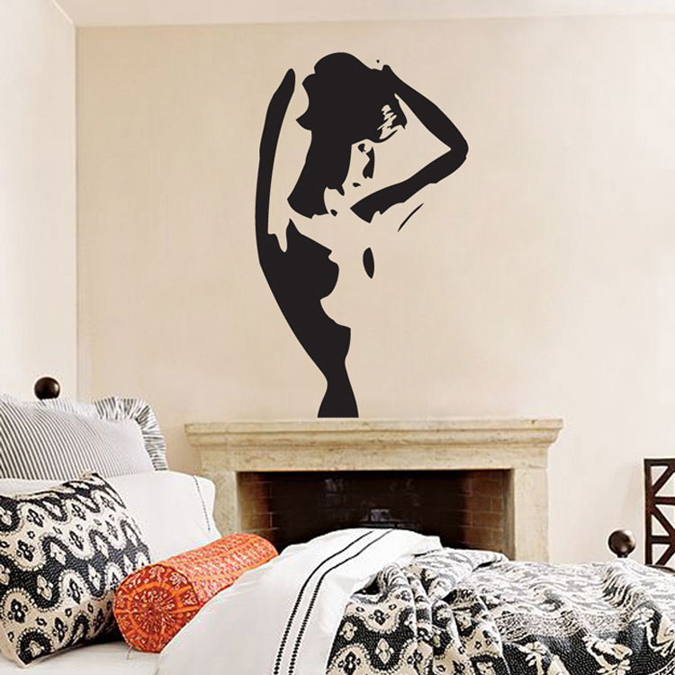 & Silhouette of a Woman - Vinyl Wall Decal