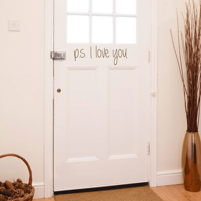 PS I Love You Door Entryway Foyer Quote Wall Decals Stickers - Wall decals entryway
