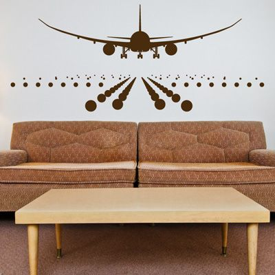 Plane Room on Wall Decals Are The Answer To Boring Dorm Room Walls   Decor Girl