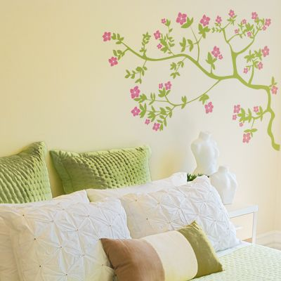 apple blossom branch - wall decals stickers graphics