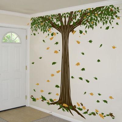 autumn tree room400 15 Smart Autumn Wall Paintings