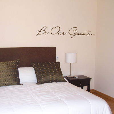 be our guest - words - quote - wall decals